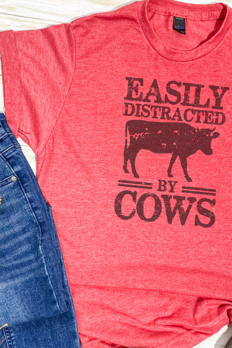 Easily Distracted By Cows Unisex Blend Tee