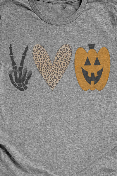 Peace Love Halloween Unisex Blend Tee