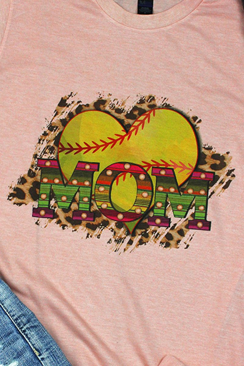 Softball Heart Mom Unisex Blend Tee