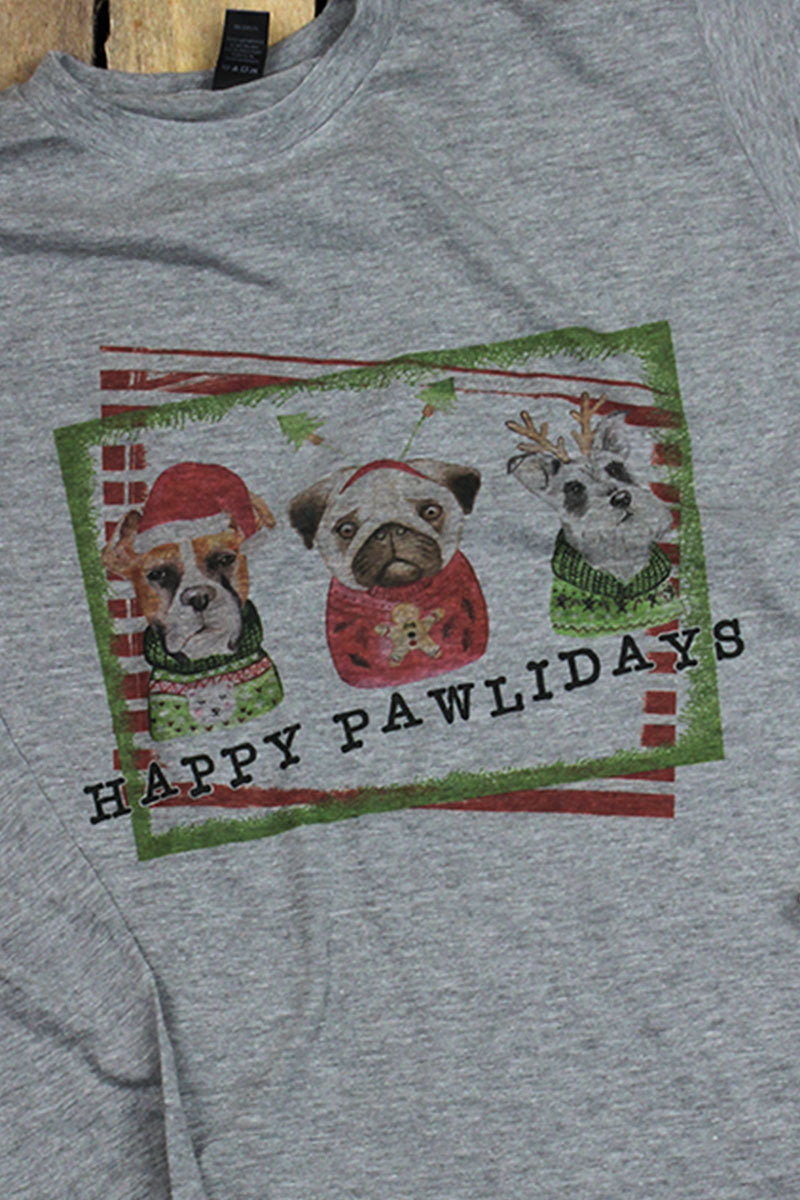 Pawlidays Unisex Poly-Rich Blend Long Sleeve Tee