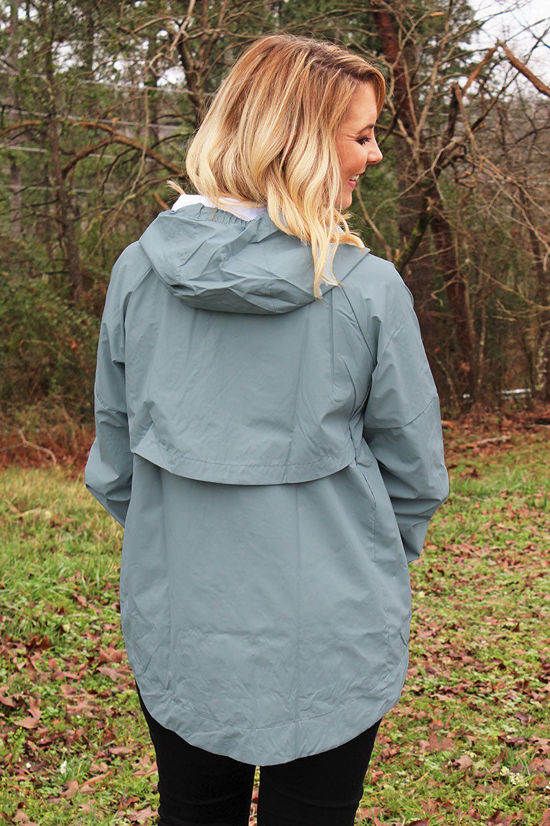 Pennant Women's Gray Aqualon Rain Jacket