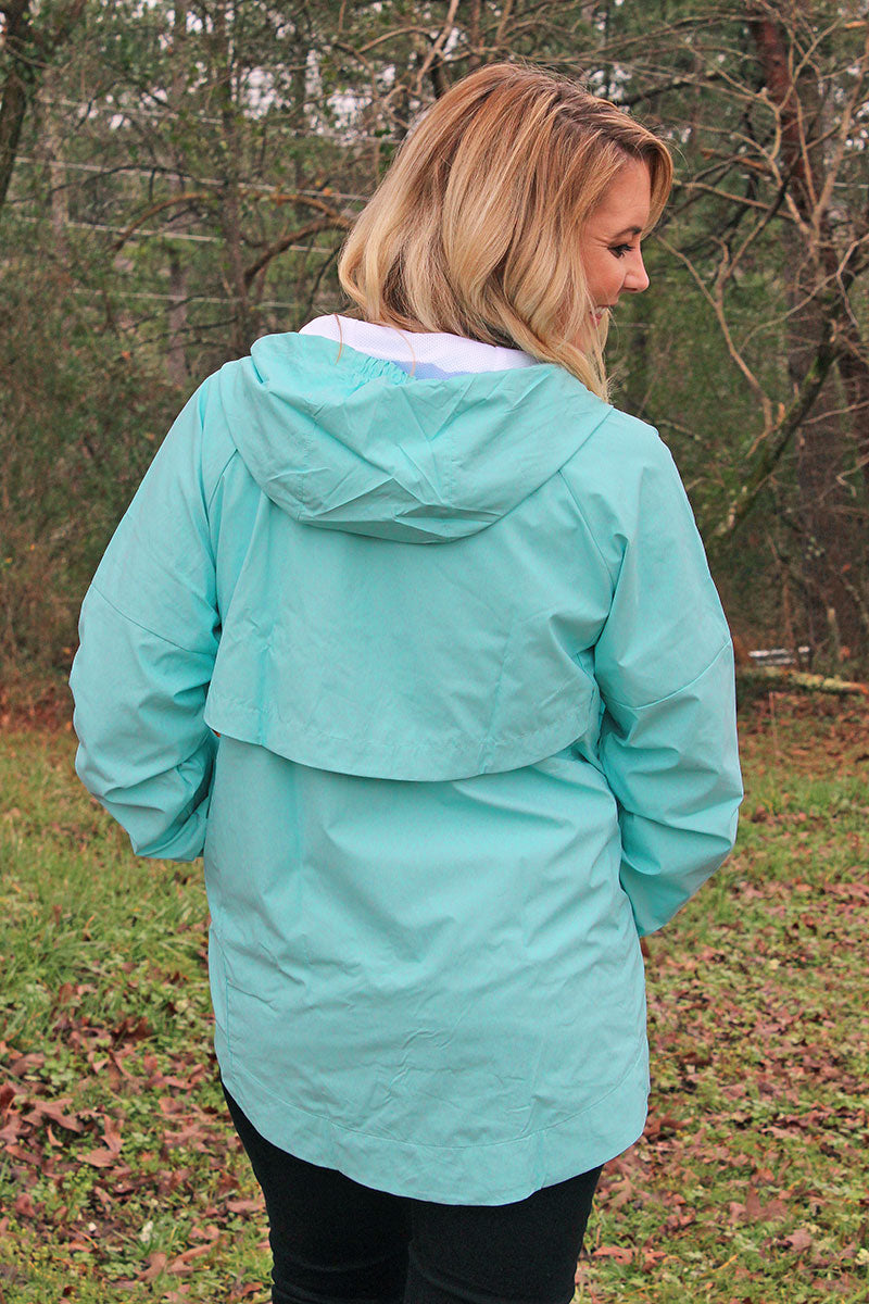 Pennant Women's Mint Aqualon Rain Jacket