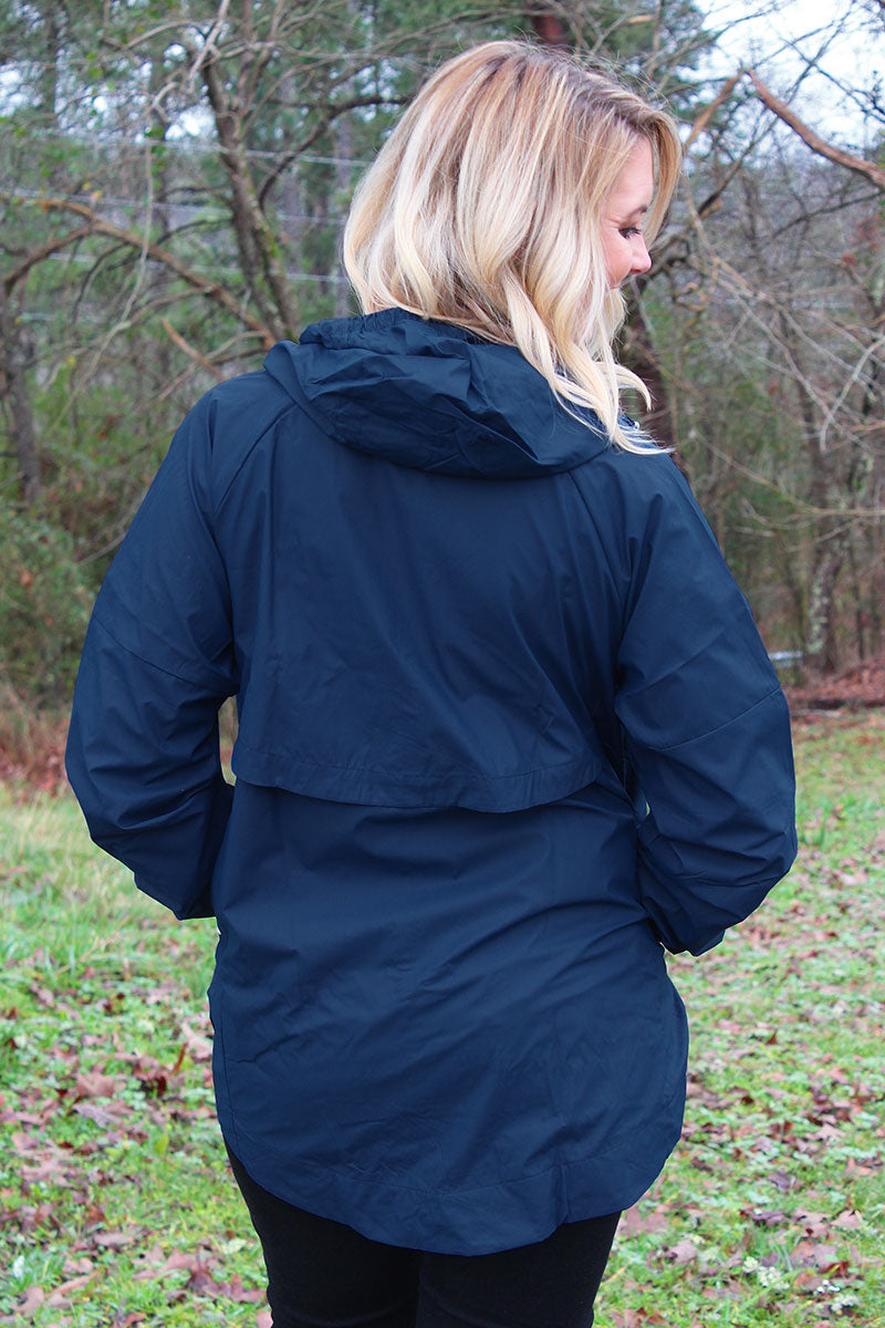 Pennant Women's Navy Aqualon Rain Jacket