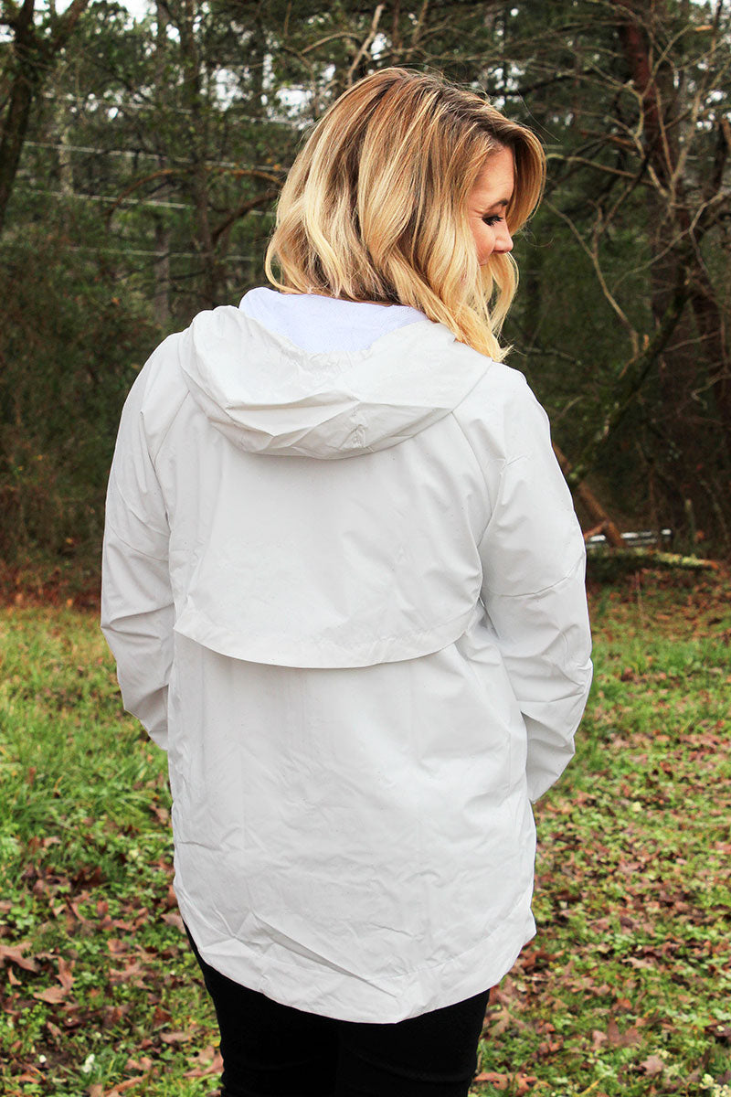 Pennant Women's White Aqualon Rain Jacket