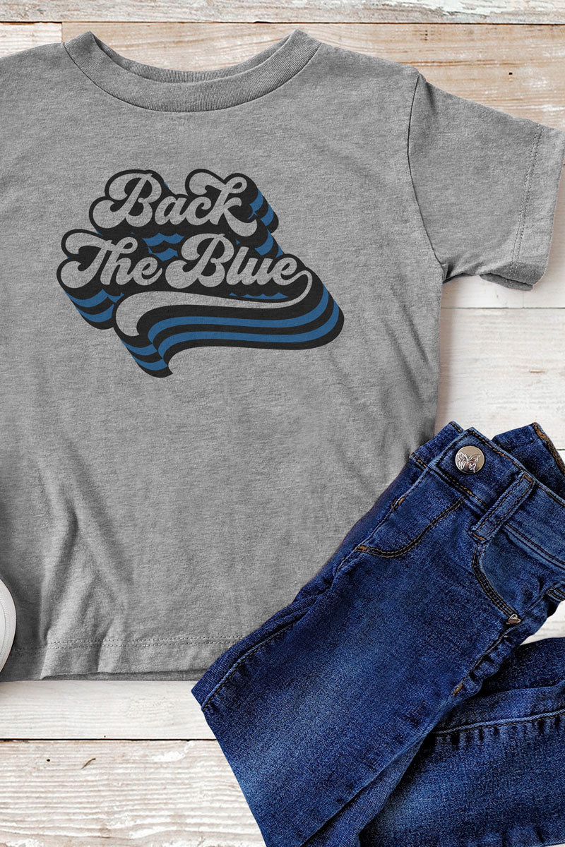 Youth Back The Blue Poly-Rich Blend Tee