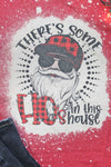 Bleached Santa There's Some Ho's In This House Unisex Dri-Power Long-Sleeve 50/50 Tee