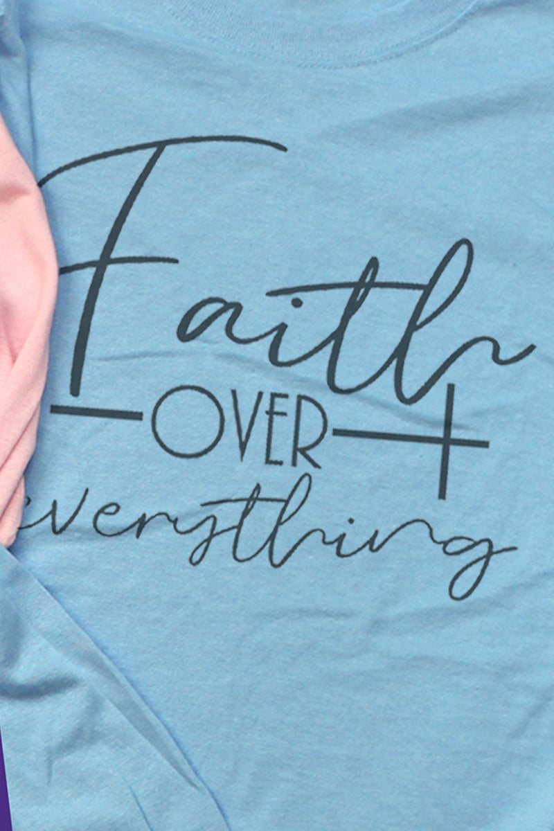 Faith Over Everything Unisex Dri-Power Long-Sleeve 50/50 Tee