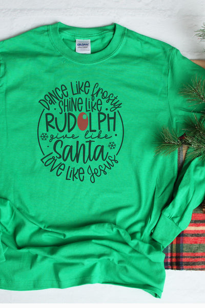 Give Like Santa Unisex Dri-Power Long-Sleeve 50/50 Tee