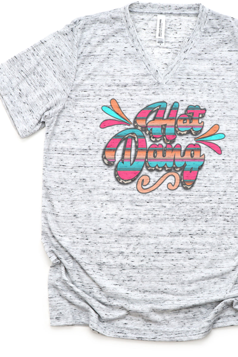 Hot Dang Serape Unisex V-Neck Tee
