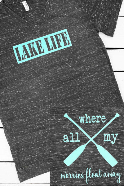 Lake Life or River Life Unisex V-Neck Tee #3005 (WHOLESALE PRICING N/A)