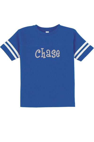 Rabbit Skins Toddler Fine Jersey Football Tee, Royal/White #3037 *Personalize It
