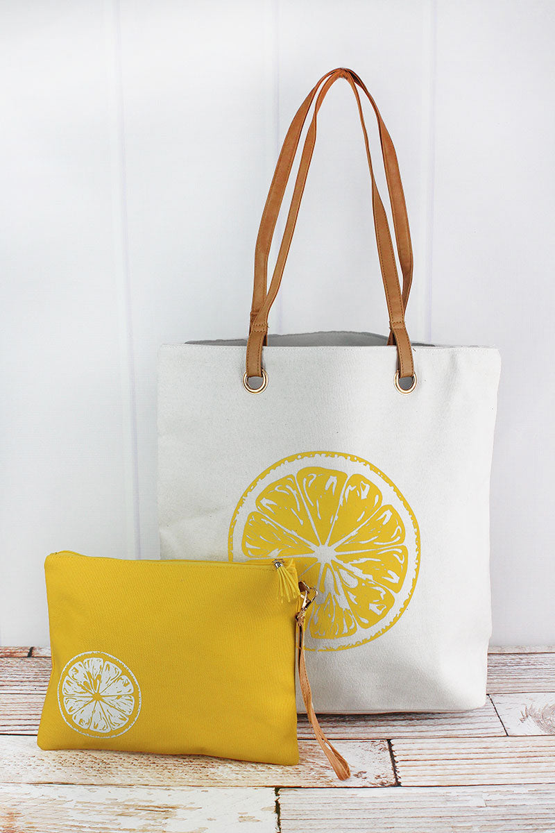 Lemon Slice Cabo Beach Bag Set