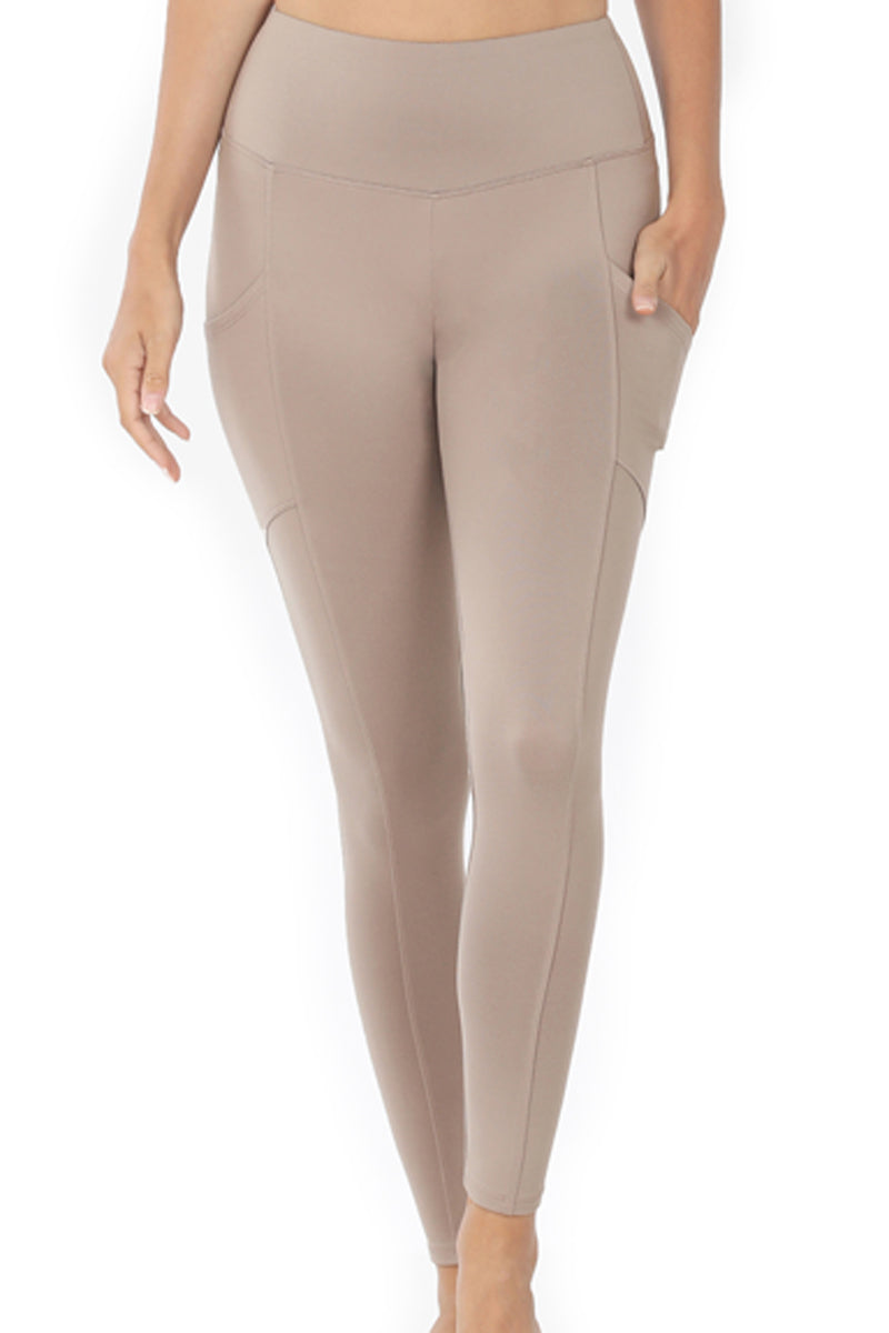 Ash Mocha Brushed Full Length Butter Leggings