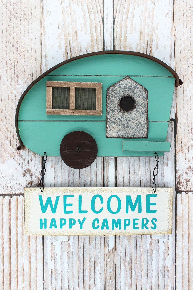 12.5 x 11.5 'Welcome Happy Campers' Wall Hanging