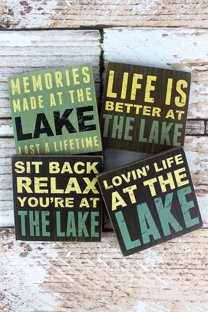 Set of Four 4 x 4 Lake Themed Coasters