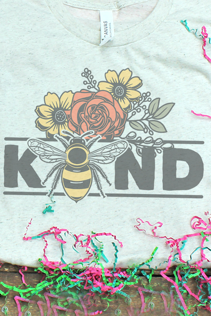 Floral Be Kind Tri-Blend Short Sleeve Tee