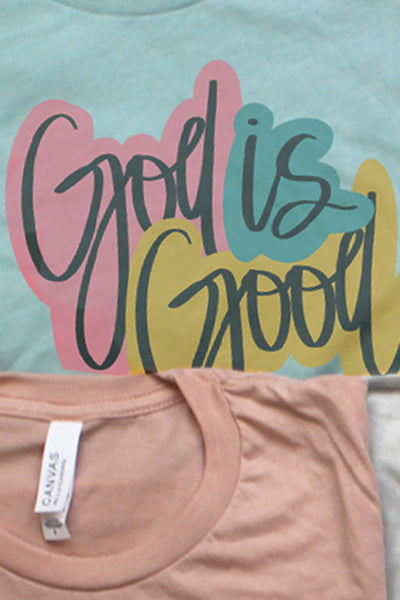 God Is Good Color Block Tri-Blend Short Sleeve Tee