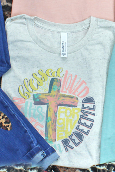 Redeemed Cross Tri-Blend Short Sleeve Tee