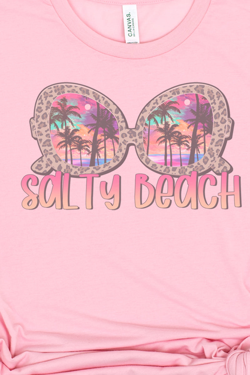 Salty Beach Sunglasses Tri-Blend Short Sleeve Tee