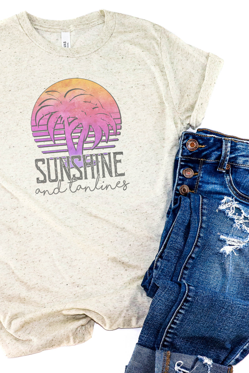 Sunshine &  Tan Lines Tri-Blend Short Sleeve Tee