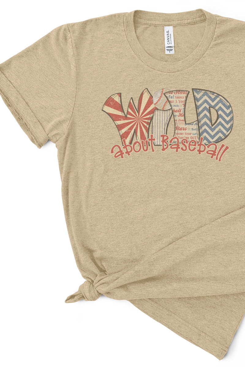 Wild About Baseball Tri-Blend Short Sleeve Tee