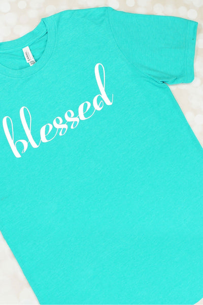 Blessed Unisex Tri-Blend Short Sleeve Tee #3413 (Wholesale Pricing N/A) (PLEASE ALLOW 3-5 BUSINESS DAYS. EXPEDITED SHIPPING N/A) - Wholesale Accessory Market