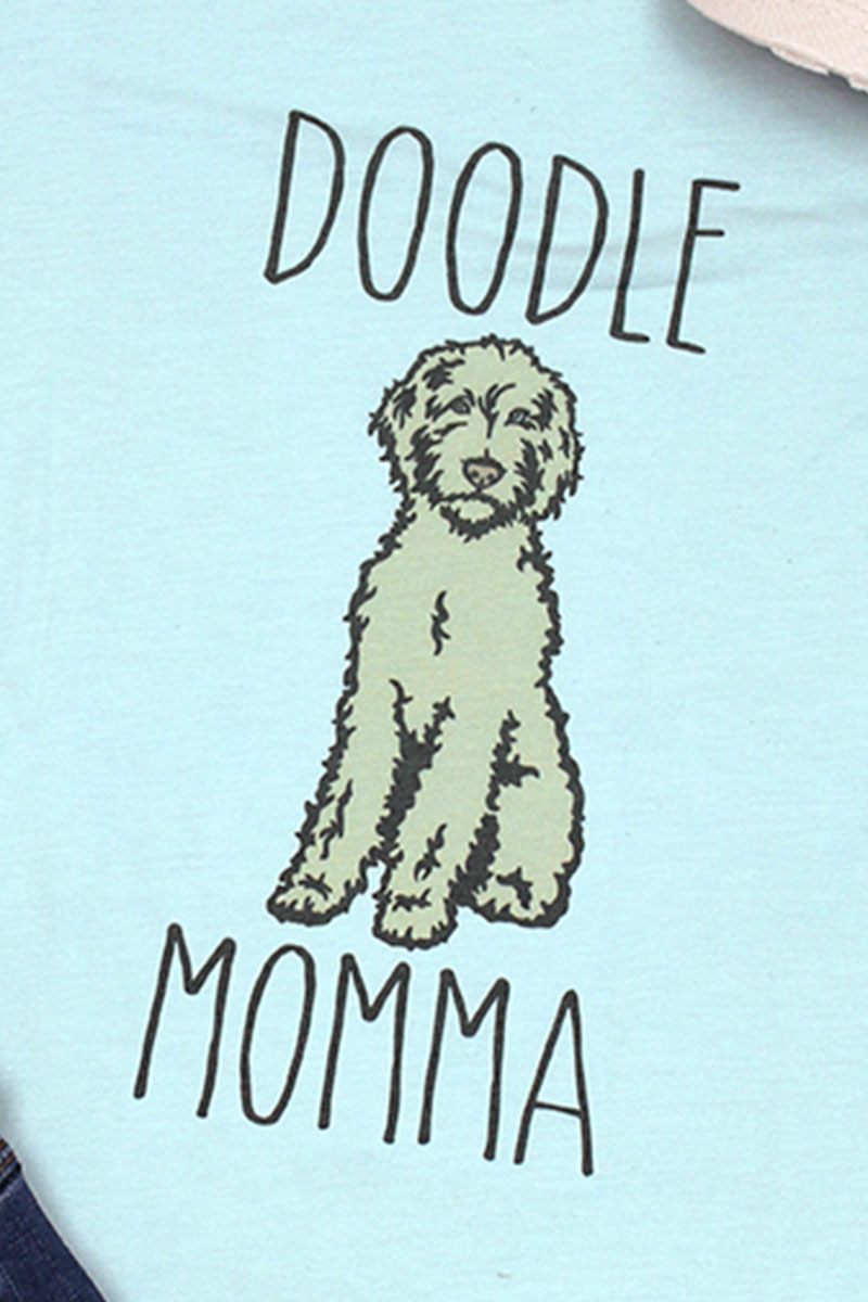 Doodle Momma Tri-Blend Short Sleeve Tee