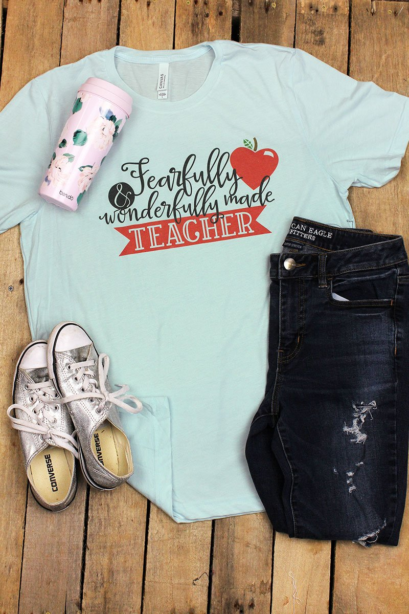 Wonderfully Made Teacher Tri-Blend Short Sleeve Tee