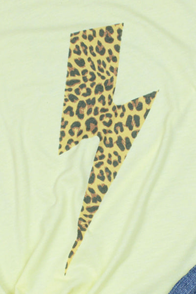 Lightning Bolt Leopard Tri-Blend Short Sleeve Tee