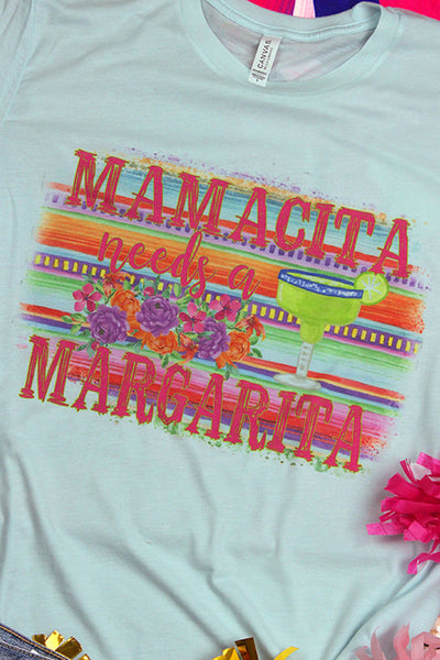 Mamacita Needs A Margarita Tri-Blend Short Sleeve Tee