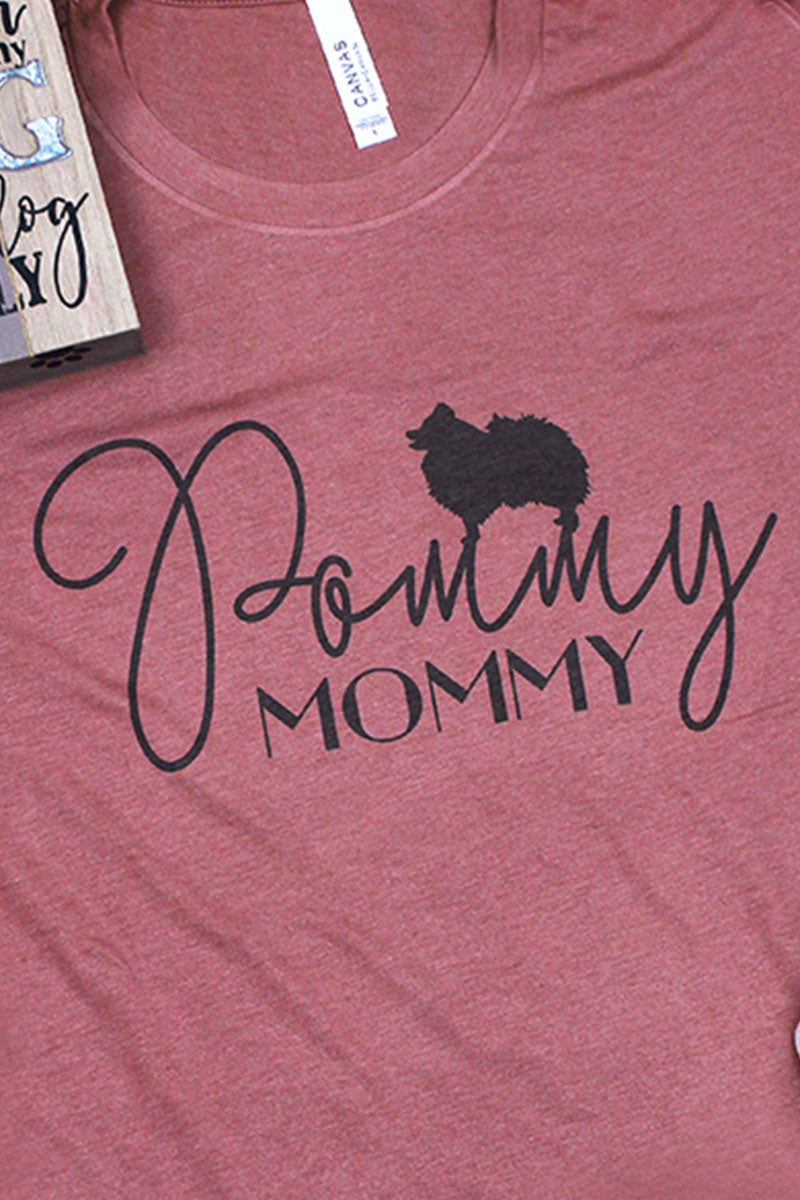 Pommy Mommy Tri-Blend Short Sleeve Tee