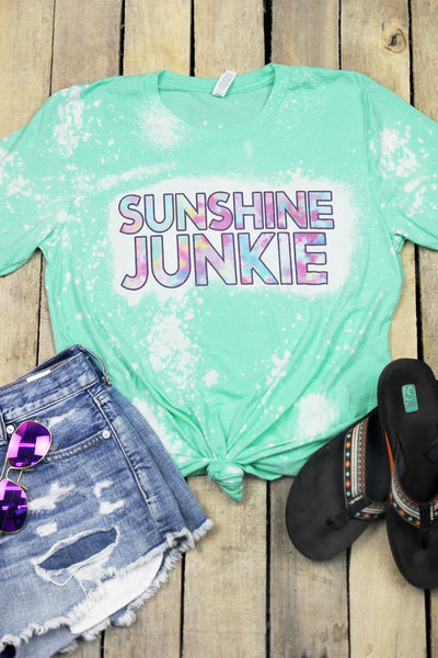 Bleached Sunshine Junkie Tri-Blend Short Sleeve Tee