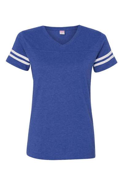 School Initials & Arrow Ladies' Fine Jersey Football T-Shirt *Personalize It (Wholesale Pricing N/A)