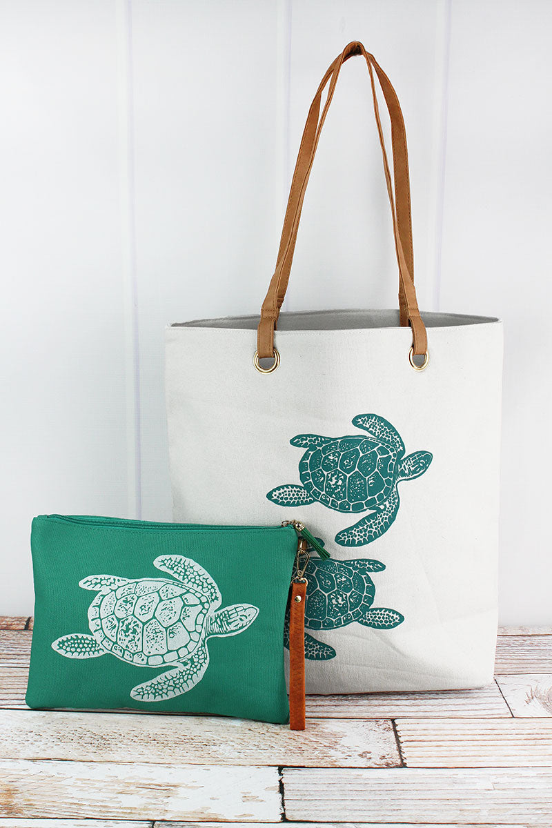 Sea Turtle Cabo Beach Bag Set