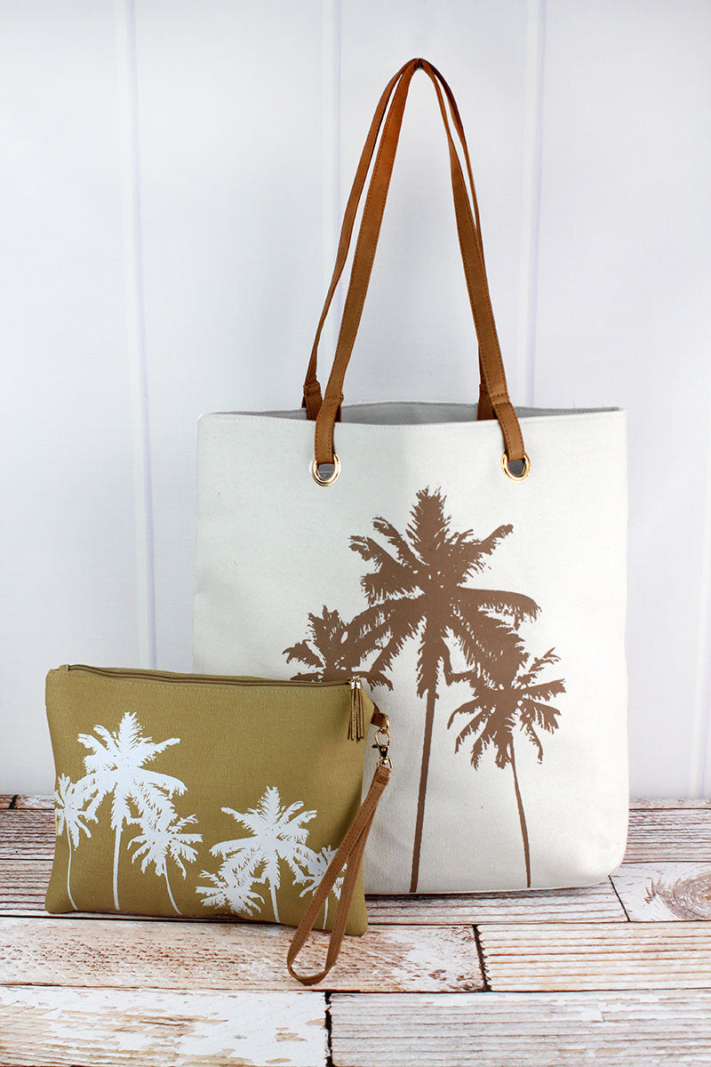 Palm Tree Cabo Beach Bag Set