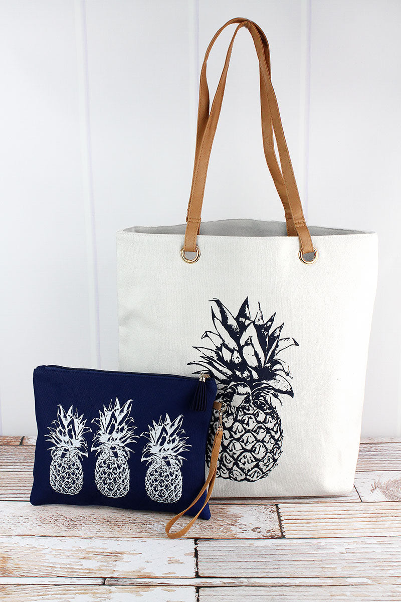 Pineapple Cabo Beach Bag Set