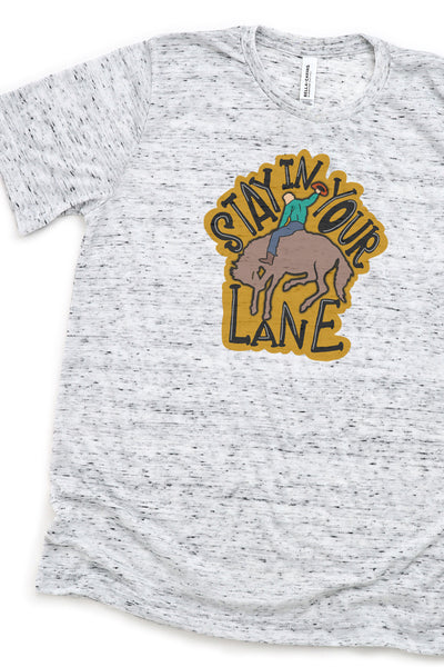 Stay In Your Lane Cowboy Unisex Short Sleeve Tee