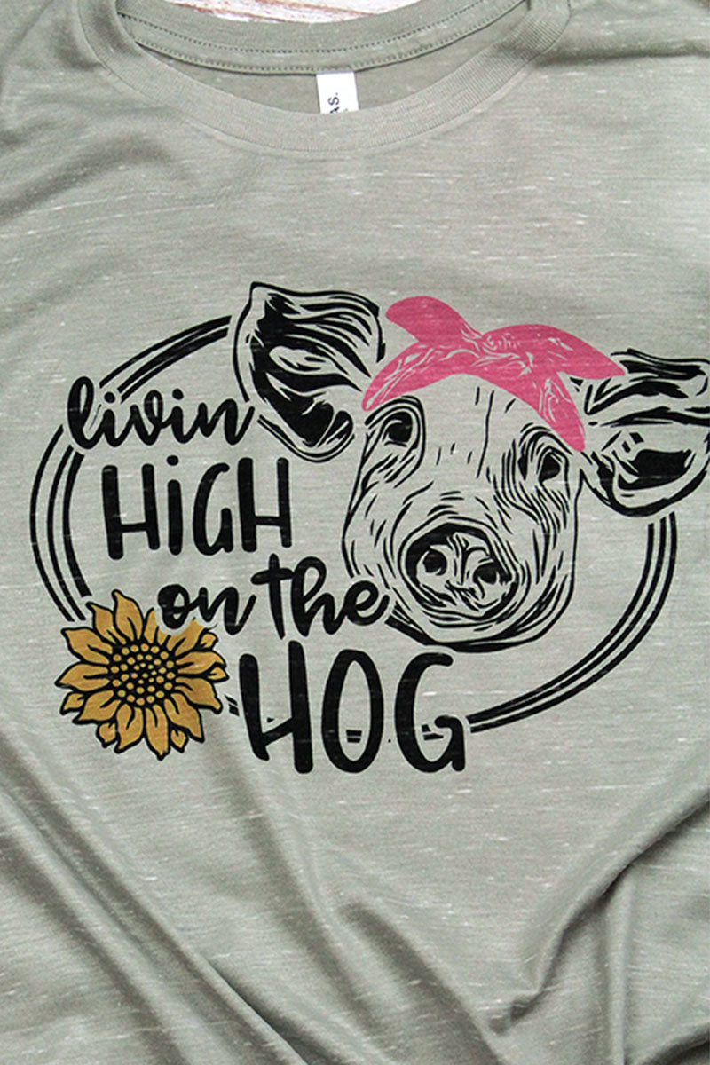 High On The Hog Unisex Short Sleeve Tee