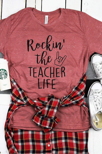 Rockin' The Teacher Life Unisex Short Sleeve Tee