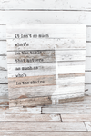 24.5 x 24 'Who's In The Chairs' Wood Wall Sign