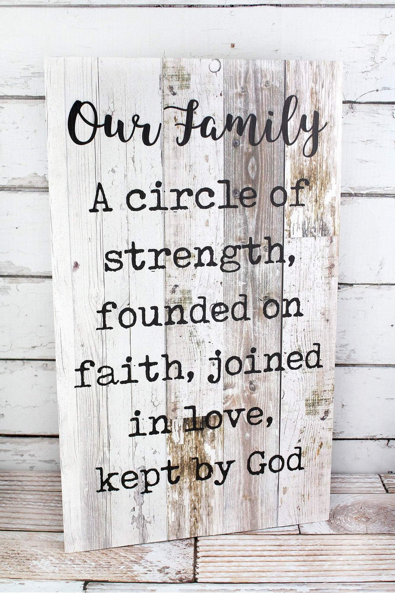 24 x 14 'Our Family' Wood Wall Sign