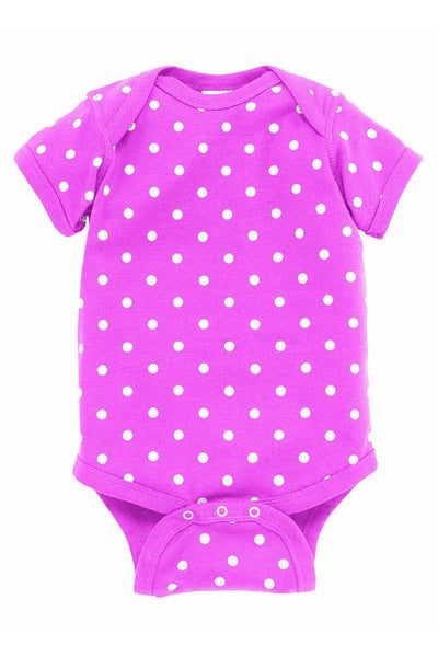 Rabbit Skins Polka Dot Infant Onesie *Personalize It