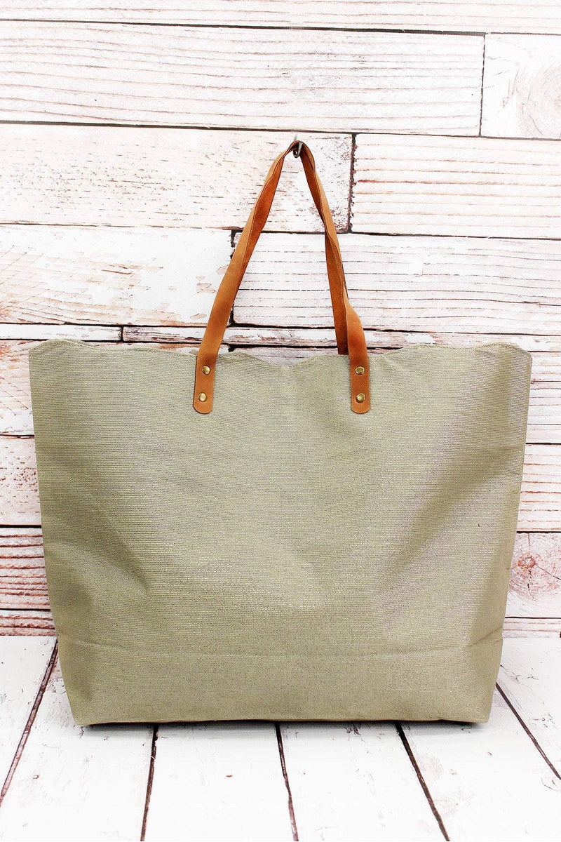 Champagne Shimmer Scallop Tote Bag