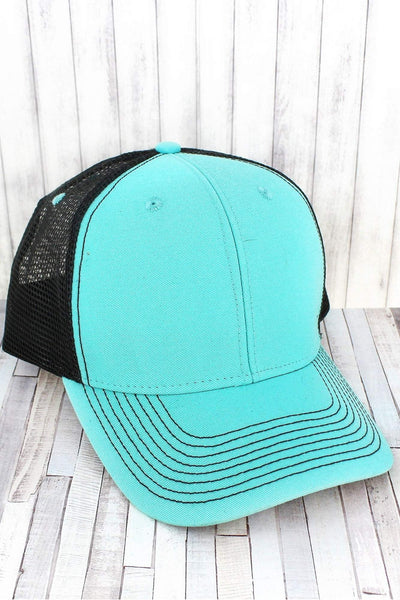 Surf and Dark Gray Contrast Mesh Trucker Cap