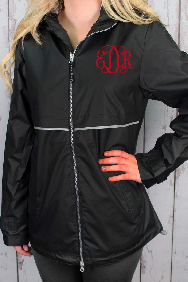 Charles River Women's New Englander Black Rain Jacket #5099 *Customizable! (Wholesale Pricing N/A.. PLEASE ALLOW 3-5 BUSINESS DAYS.. EXPEDITED SHIPPING N/A) - Wholesale Accessory Market
