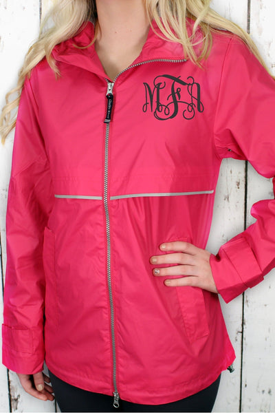 Charles River Women's New Englander Hot Pink Rain Jacket #5099 *Customizable!
