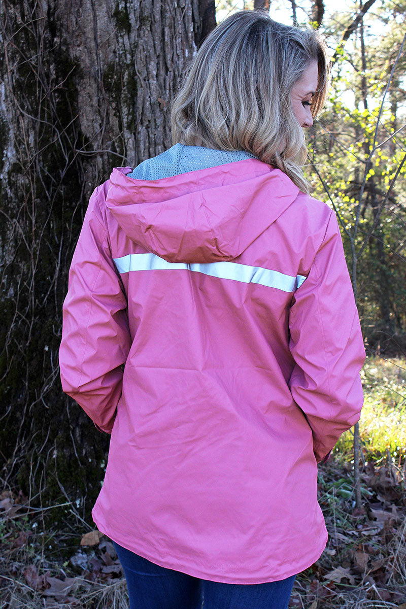 Charles River Women's New Englander Mauve Rain Jacket