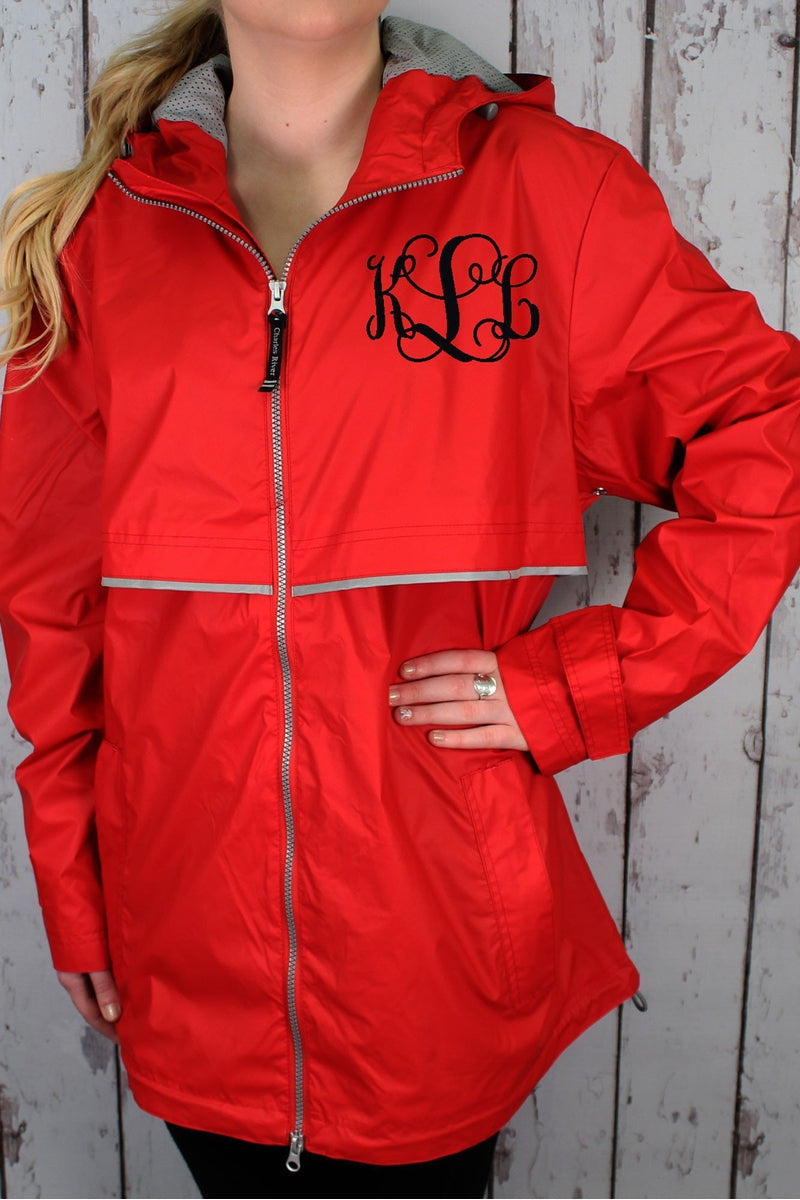 Charles River Women&39s New Englander Red Rain Jacket 5099