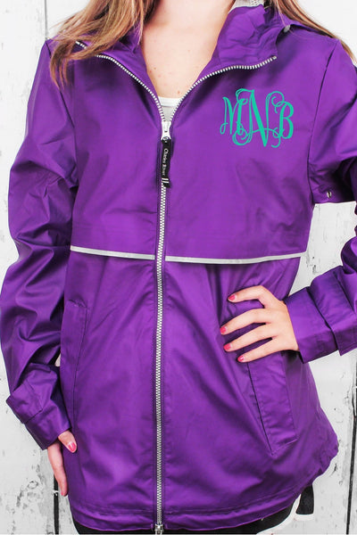 Charles River Women's New Englander Violet Rain Jacket #5099 *Customizable! (Wholesale Pricing N/A.. PLEASE ALLOW 3-5 BUSINESS DAYS.. EXPEDITED SHIPPING N/A) - Wholesale Accessory Market