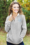 Women's Charles River Heathered Fleece Pullover, Light Gray Heather *Customizable! (Wholesale Pricing N/A)